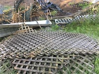 Used PT lattice has some life left.  Approx 12/13 pieces. Leesport, 19533