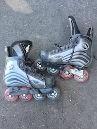 Pair of gray inline skates Courtice, L1E