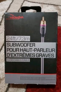 SUBWOOFERS 24FT AUDIO CABLE