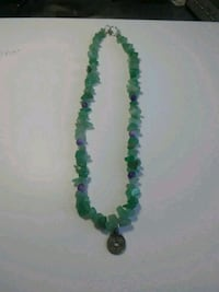 beaded green necklace with coin pendant Spring Valley, 91977