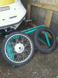 Motorcycle wheel and tires Penticton, V2A 3P3