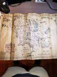 """Lord of the Rings """"Map of Middle Earth"""" Mississauga, L4Y 3S4"""