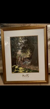 Monet Parisians Enjoying The Park Framed Picture  must go by weekend Gainesville, 20155