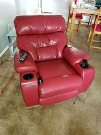 red leather recliner sofa chair electric Lakeland