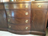 ANTIQUE MAHOGANY SIDEBOARD, HUTCH, by Drexel Whitchurch-Stouffville