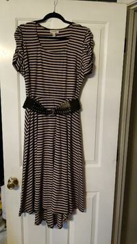 Black and Tan Stripped Dress, size 14 Frederica, 19946