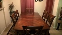 Dining table and six suede chairs Arlington, 22201