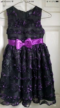 purple and black floral sleeveless dress Vaughan, L6A 3A4