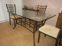 rectangular glass top table with four chairs dining set Doylestown, 18901