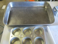 18x12 baking pan and 2 muffin pans Rochester