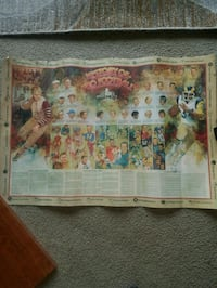 Vintage History of Football Poster Fairfax, 22032