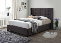 Princeton Charcoal Gray Queen Platform Bed Houston