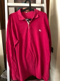 Polo burberry rosa taglia XL Roma, 00185