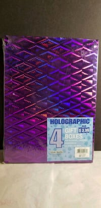 """Holographic Gift Boxes - 4 - 8×11×1 1/4"""" - New/Uno Waldorf, 20602"""