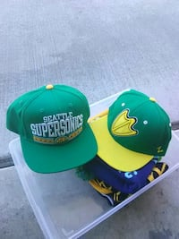green and yellow baseball caps Everett, 98208