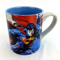 Superman Coffee Mug DC Comics Ceramic Cup 14 oz 2 Sided Graphics Intense Stare Port Colborne