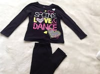 Set of Black I love  Dance shirt  with Black stretch pants in excellent condition size 7/8 Hamilton, L8V 4K6
