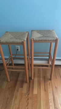 Two brown wooden bar stools in EXCELLENT condition.  $5 a stool!! Bayville, 08721