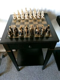 Very rare porcelain chess set and table Victoria, V9A 6A6