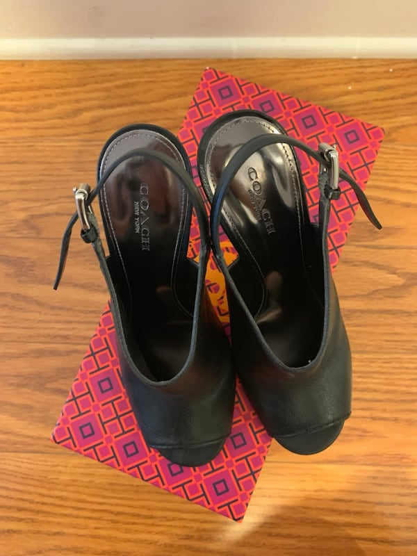 Coach Women's Black Heels / booties in size 6 (like new!) 1e9a90c7-b794-4521-9ac7-697183c28177