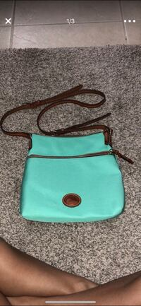 teal and brown leather crossbody bag Melbourne, 32935