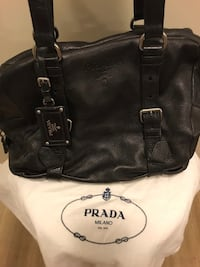 Prada black pebble leather handbag  Toronto, M4P 1R2