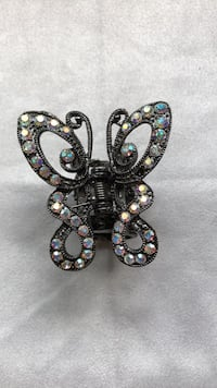 Jewel butterfly hair clip