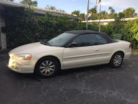 2006 Chrysler Sebring Convertible – Great Vehicle – White with Black Convertible Top FORTLAUDERDALE