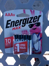 AAA Energizer batteries 8 pack