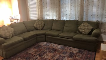 6 seat sectional sofa with recliner