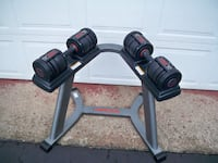 Dumbbells - Weider Speedweight 90 Adjustable Set & Stand - 10 to 45 lbs!! MURRYSVILLE