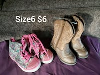 Gently use  girls shoes size6 Bakersfield, 93311