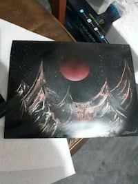 black and red abstract painting Lubbock, 79424