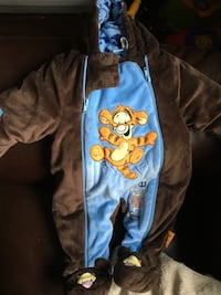 blue and back Tigger onesie