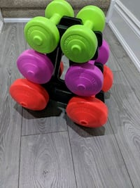 four red, green, and pink plastic containers Brampton, L7A 0V3