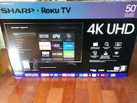 Sharp 50 inch 4k UHD with roku tv 2389 mi