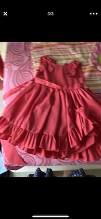 Coral-red girls dress