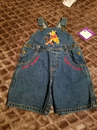 New Boy Winnie the pooh Overall shorts 24 Months Riverside, 92507