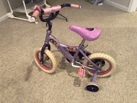 toddler's purple and pink bicycle with training wheels Woodbridge, 22192