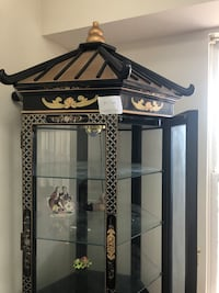 china cabinet - chineese black lacquer w mother of pearls raised arts Alexandria, 22306