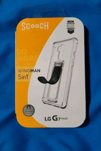 Clear case with Scooch for LG G7 ThinQ Martinsburg
