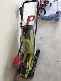 Electric lawn mower with electric weed eater  Humble, 77346