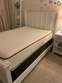 Full crate and barrel bed with mattress Washington, 20016