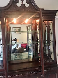 Solid Mahogany Lighted China Display Cabinet  Germantown, 20874