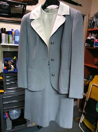 Gray n cream Dress with blazer size 8 to 10 Fairfax, 22033