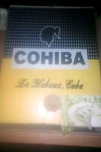 12 old cigar boxes one Cuban