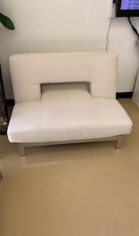 White contemporary sofa reclines love seat chair