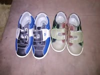 two pairs of blue and white low-top sneakers Houston, 77092