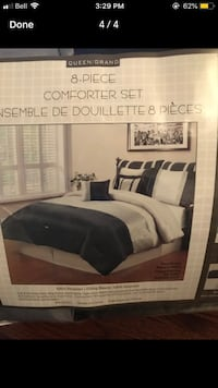 Silver and black 8 peice bedding set BRAMD NEW