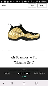 Gold foamposites